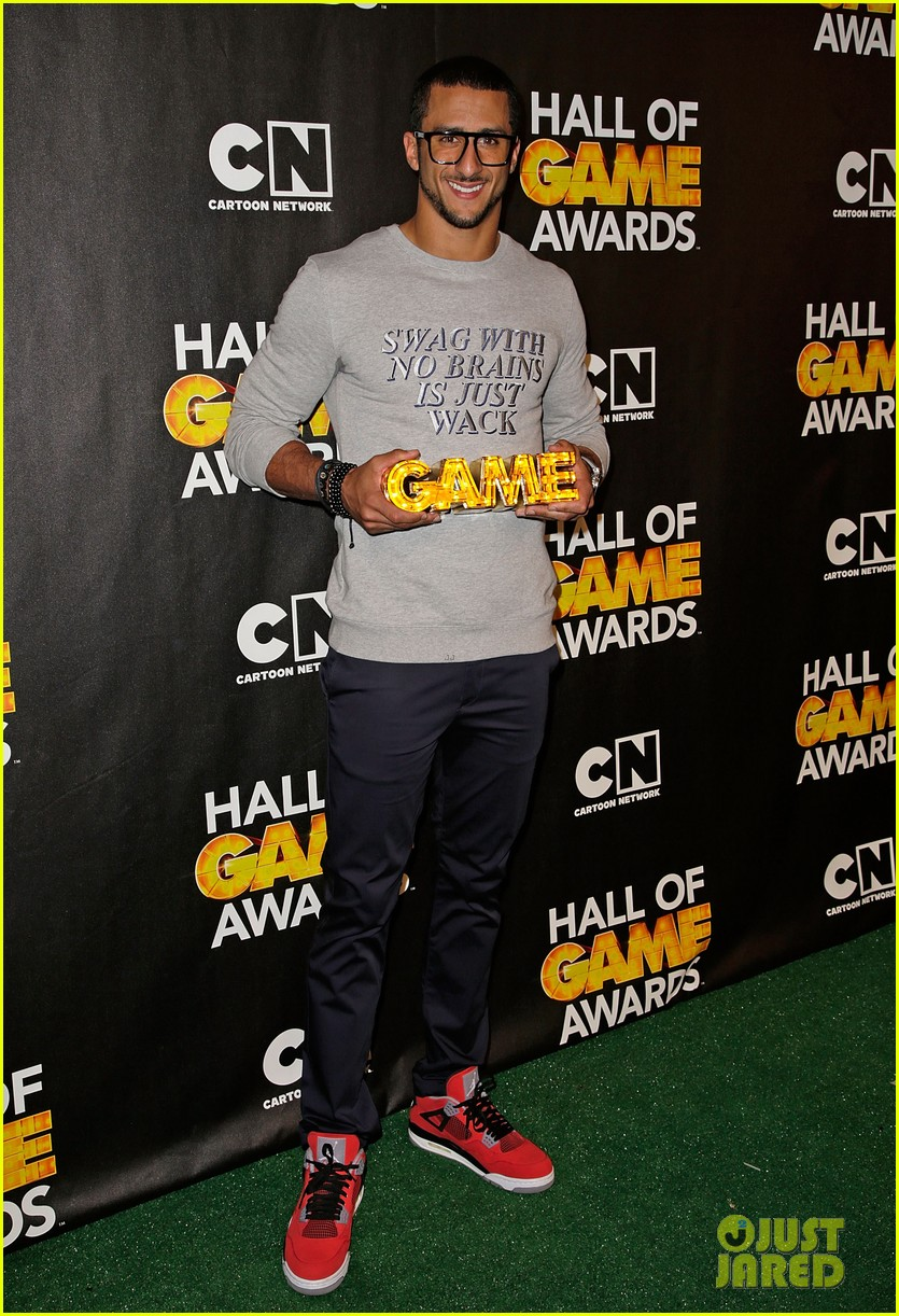 lindsey vonn colin kaepernick hall of game awards 2014 03