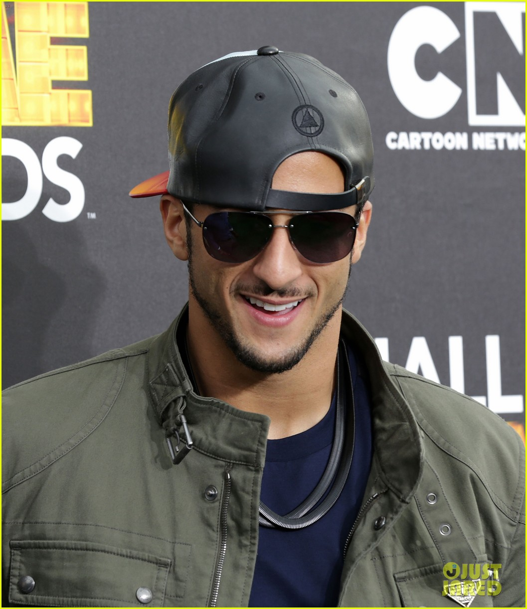 lindsey vonn colin kaepernick hall of game awards 2014 083054214