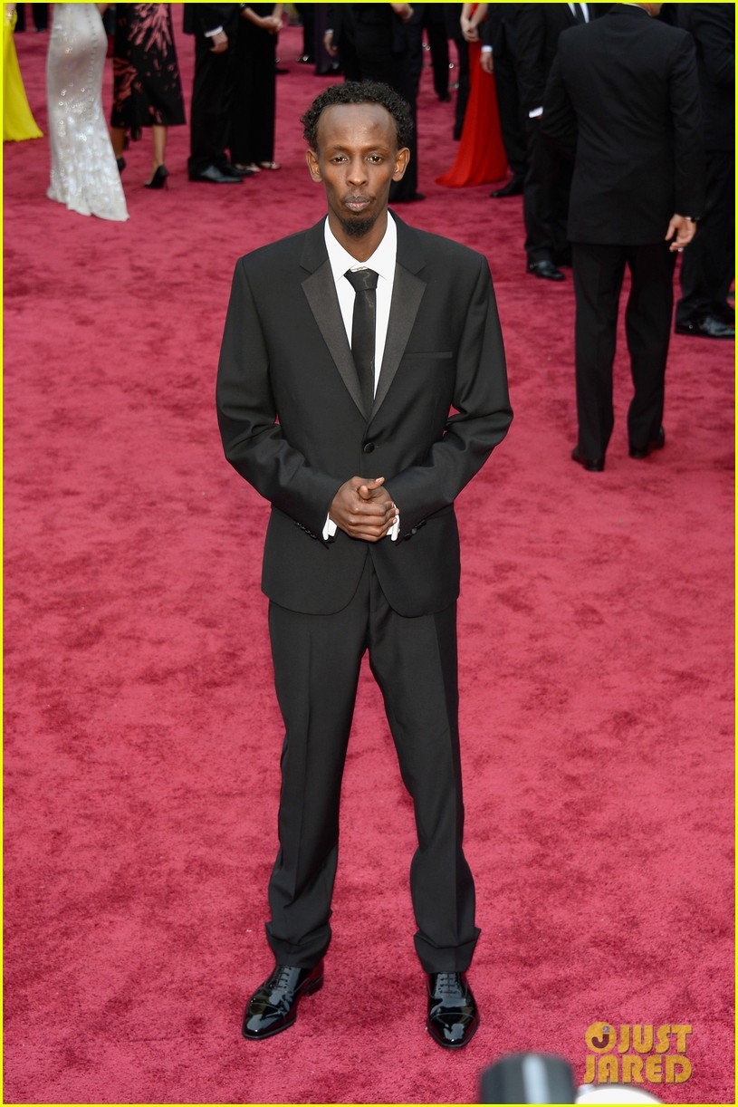 barkhad abdi is the captain now at oscars 2014 red carpet 02