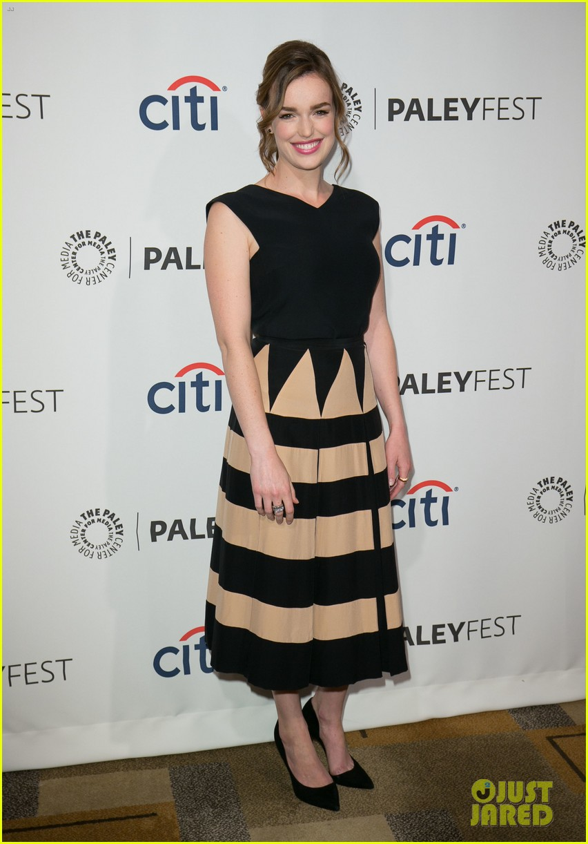 chloe bennet clark gregg promote agents of s h i e l d at paleyfest 02