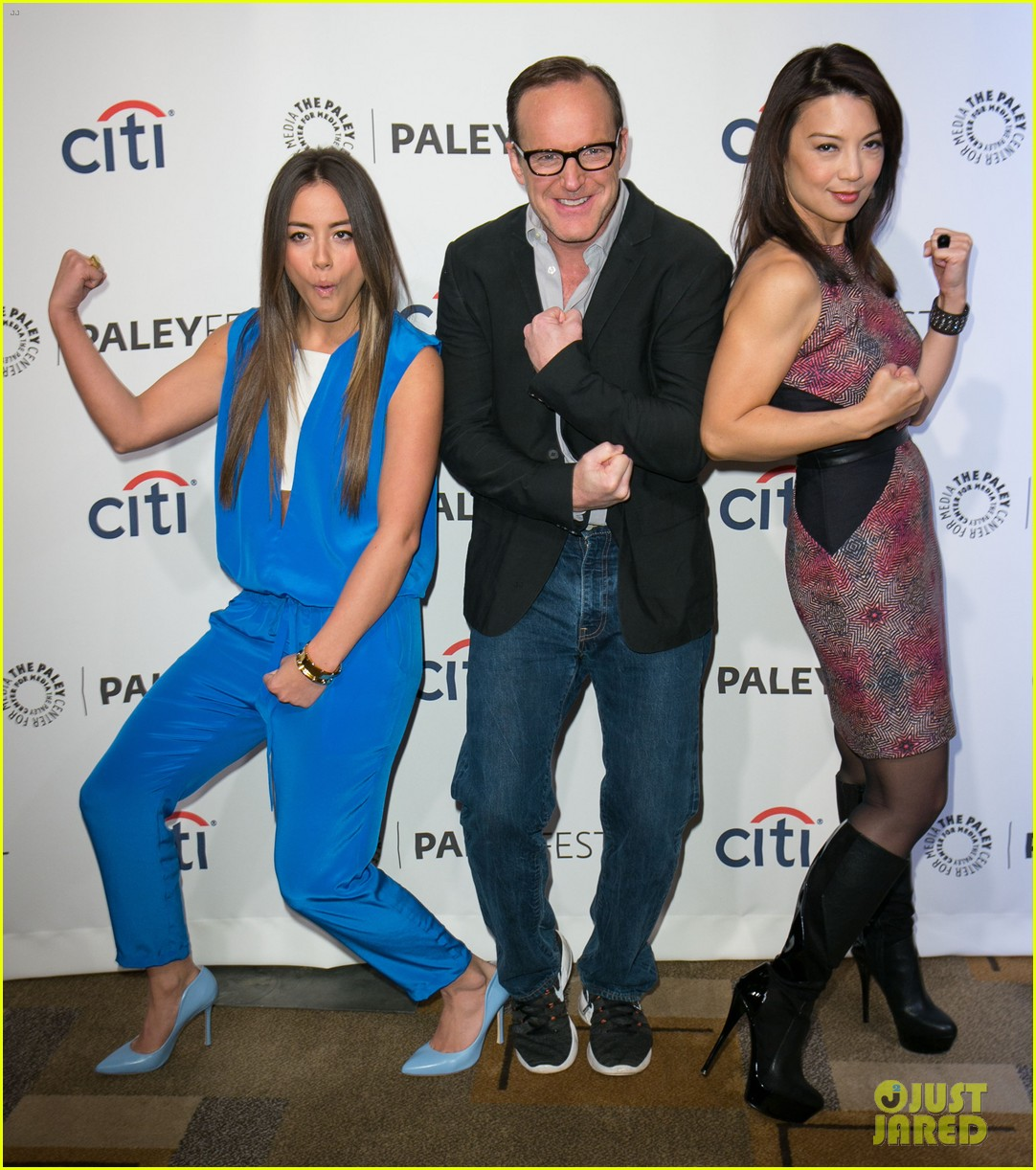 chloe bennet clark gregg promote agents of s h i e l d at paleyfest 05
