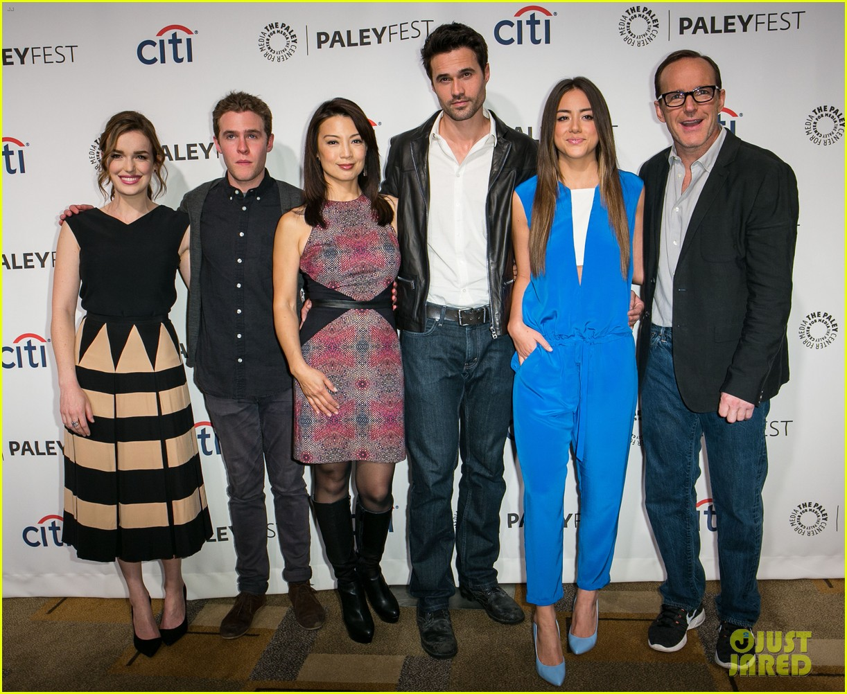 chloe bennet clark gregg promote agents of s h i e l d at paleyfest 10