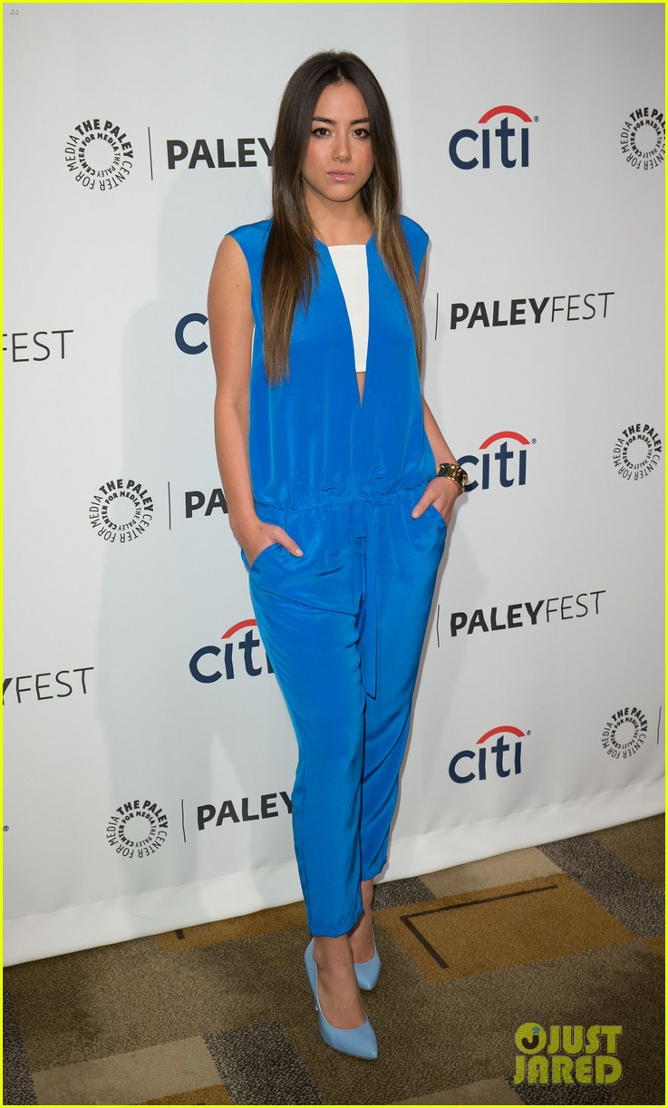chloe bennet clark gregg promote agents of s h i e l d at paleyfest 153077619