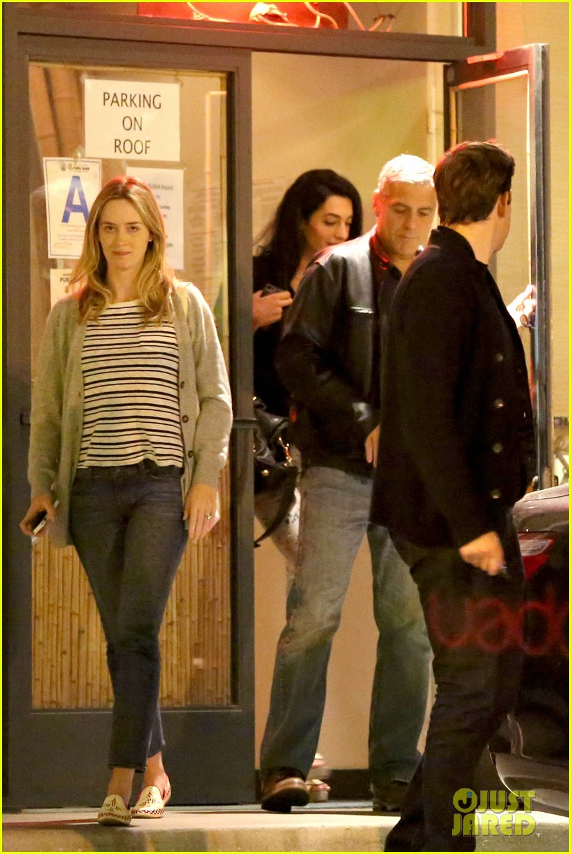 George Clooney and Amal Alamuddin on Double Date Emily-blunt-john-krasinski-double-date-with-george-clooney-amal-alamuddin-07