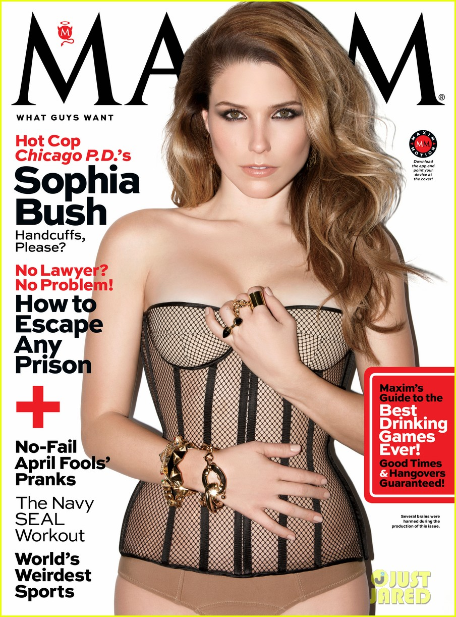 sophia bush exudes sex in hot lingerie on maxim cover 01