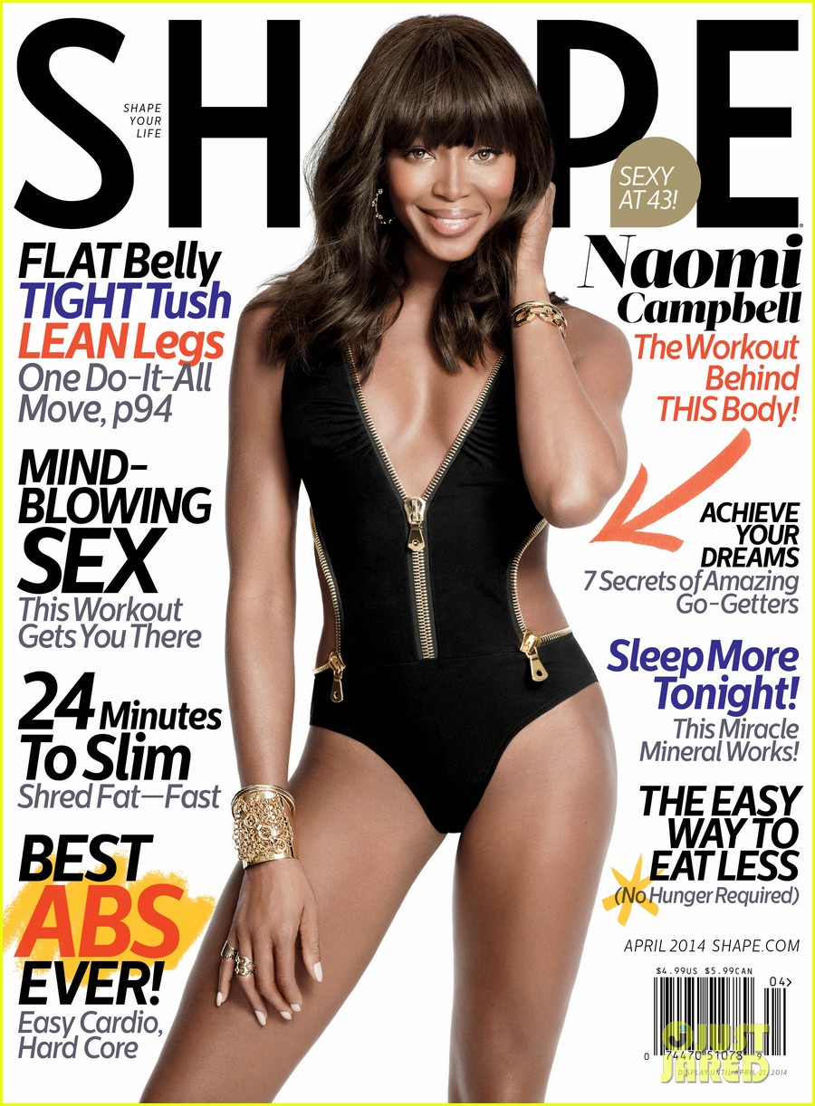 naomi campbell displays her hot body in a swimsuit for shape april 2014 01
