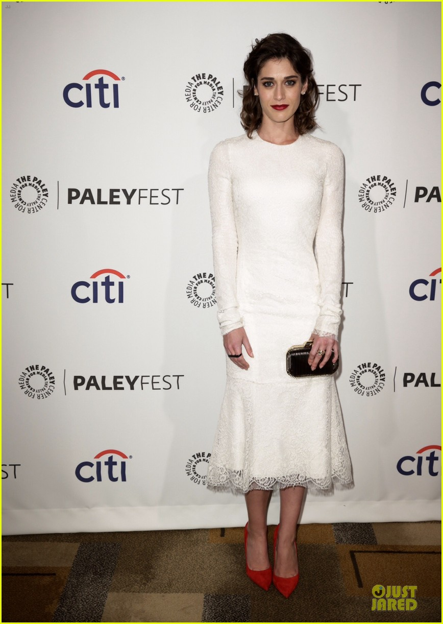lizzy caplan michael sheen masters of sex at paleyfest 113078074