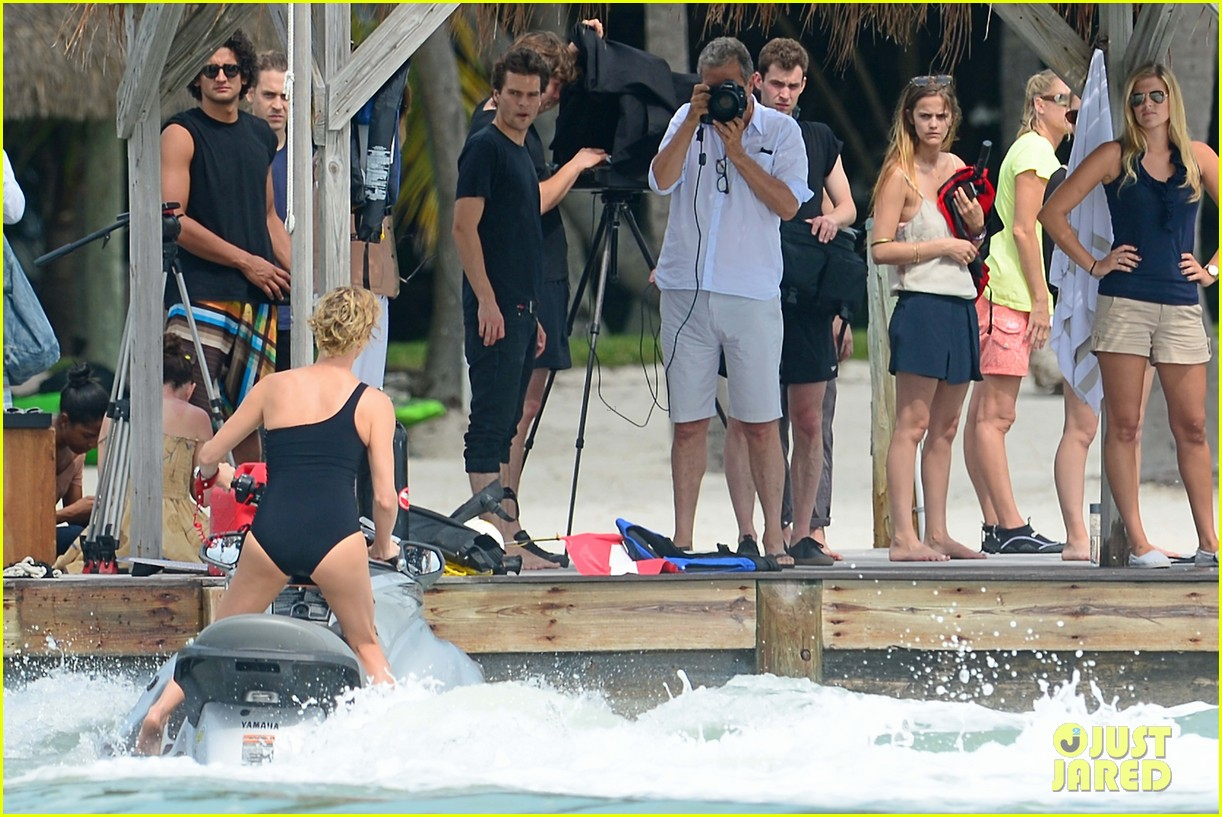 charlize therons bathing suit body is so enviable during jet ski shoot 163075481