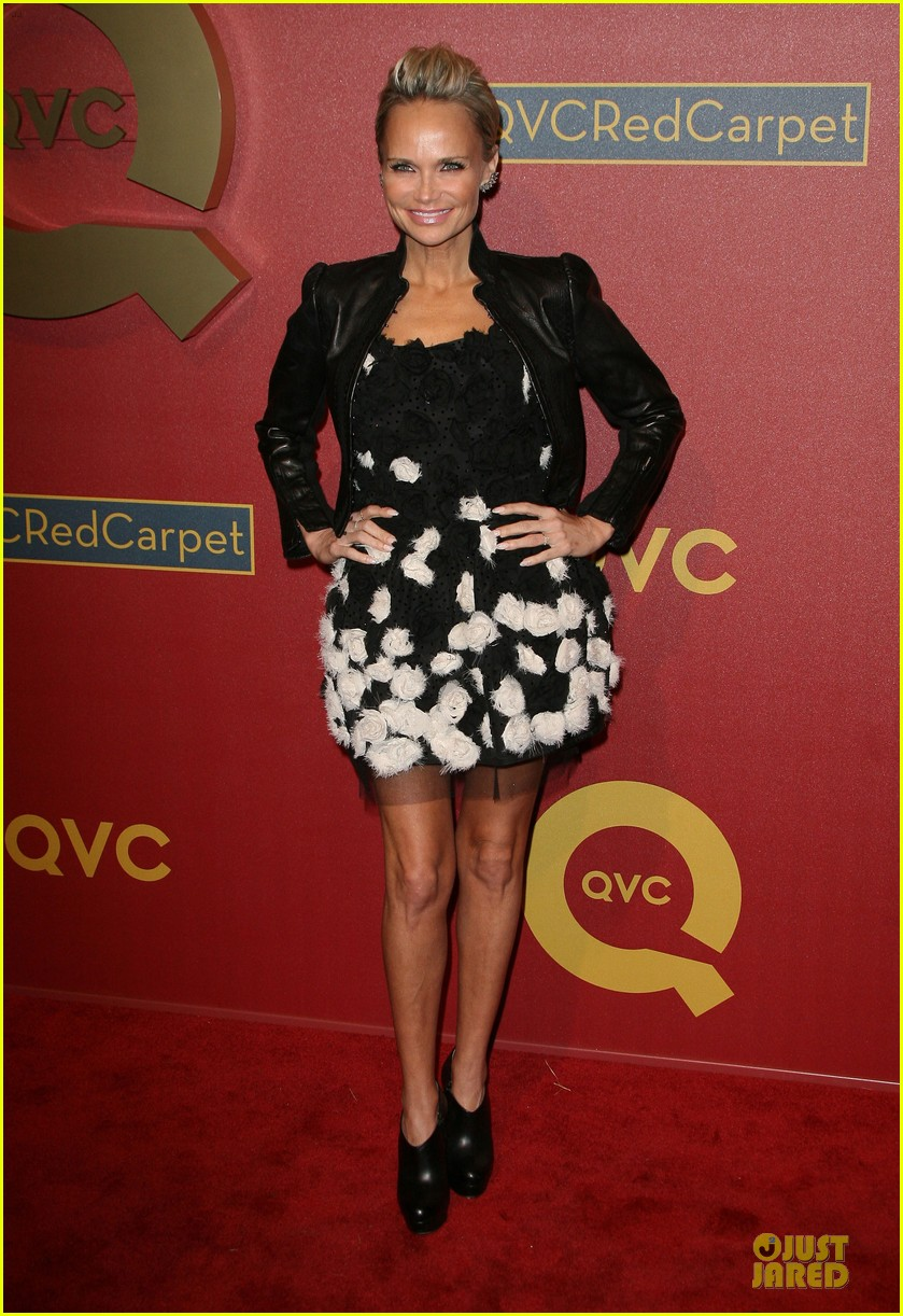 kristin chenoweth nikki reed rock florals stripes at qvc red carpet style event 203062785