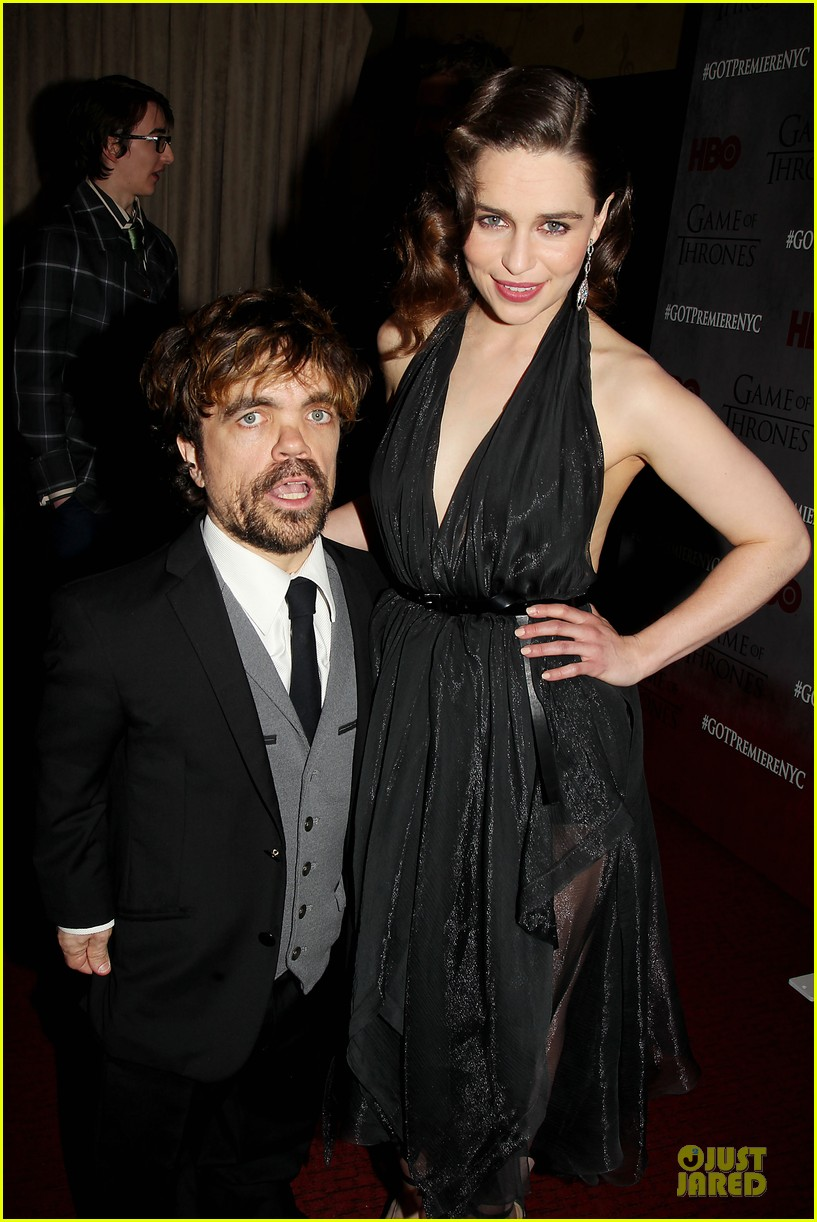 Emilia Clarke & Peter Dinklage Premiere 'Game of Thrones' Season 4!