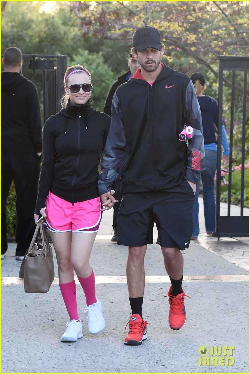 kaley cuoco ryan sweeting compete in tennis match end game with a sweet smooch 04