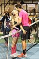 kaley cuoco ryan sweeting compete in tennis match end game with a sweet smooch 11