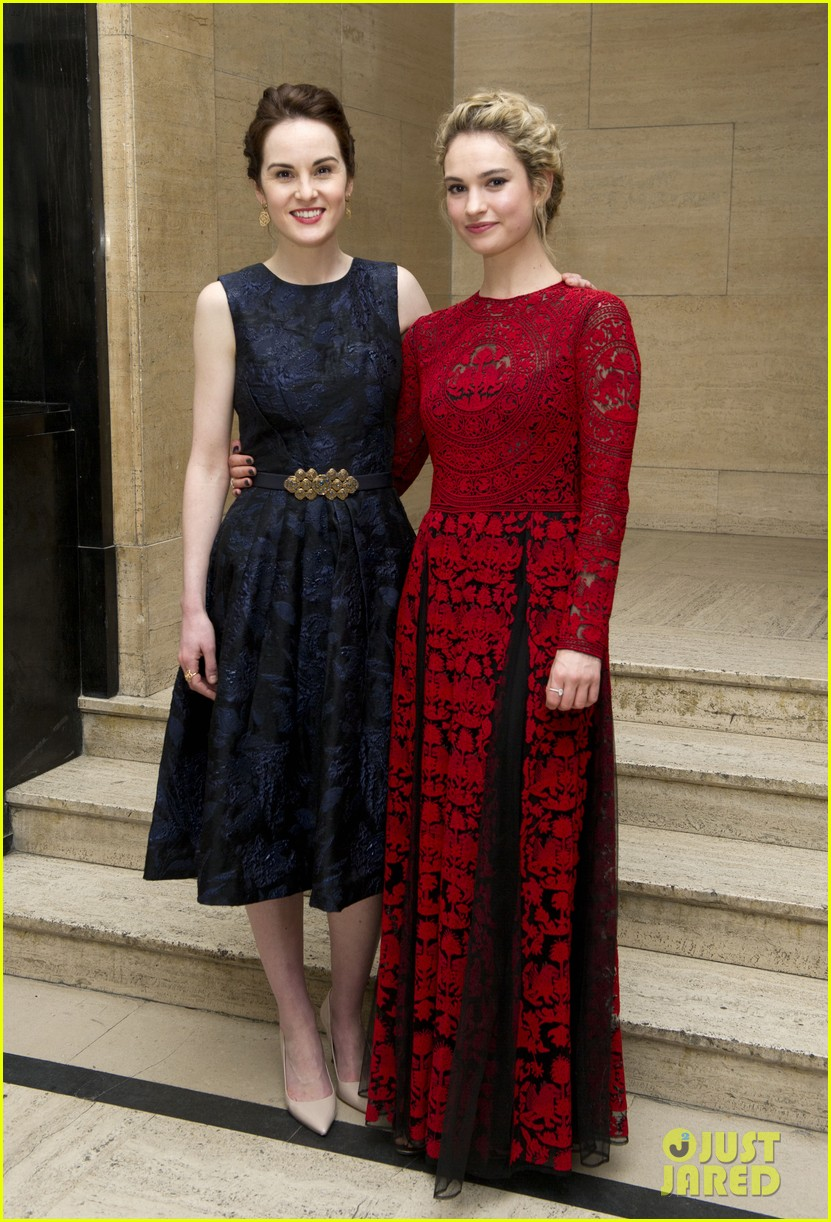 michelle dockery lily james downton abbey changing faces gala 093080309