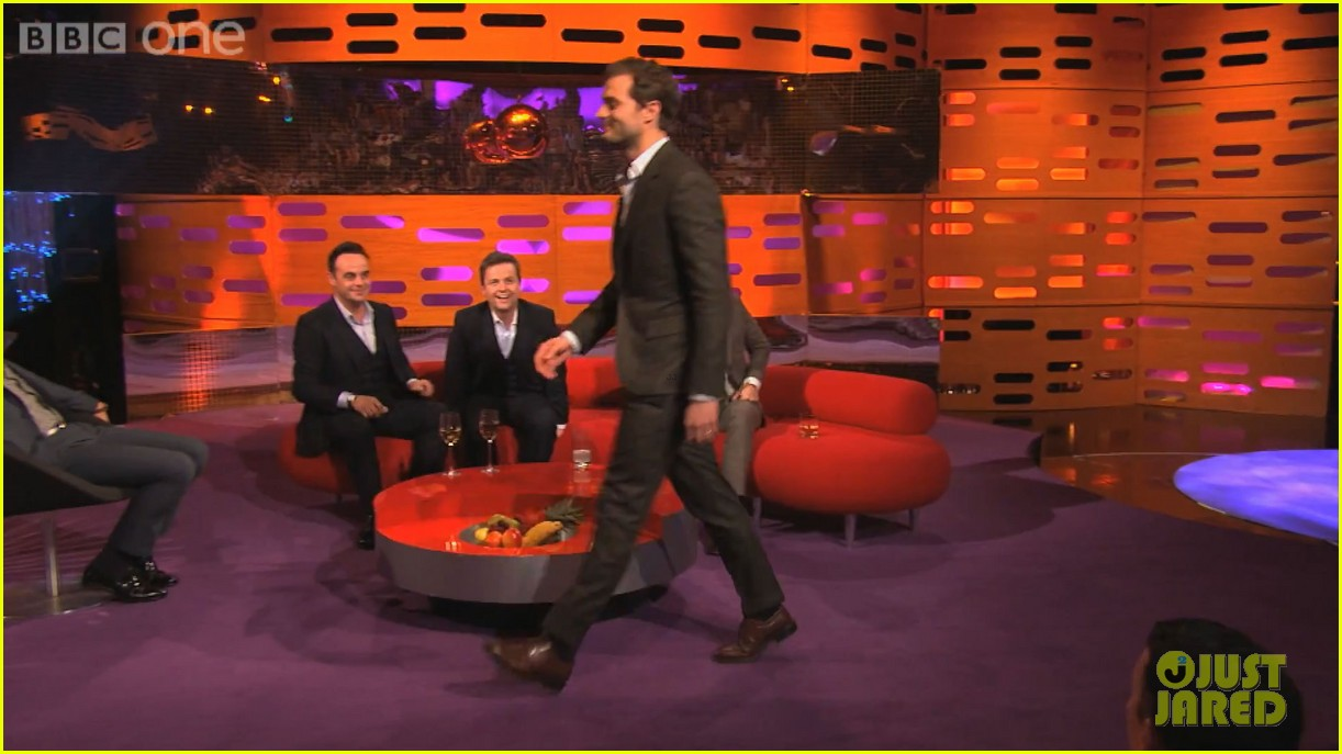 jamie dornan demonstrates his odd way of walking video 013063242