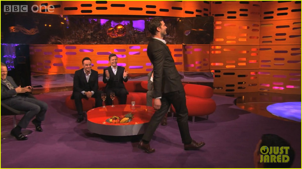 jamie dornan demonstrates his odd way of walking video 043063245