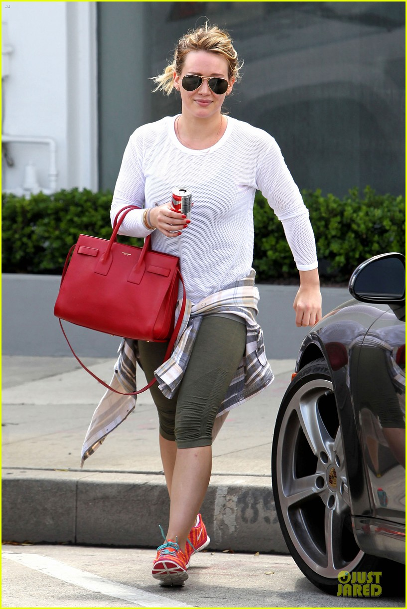 hilary duff stylish with red 13