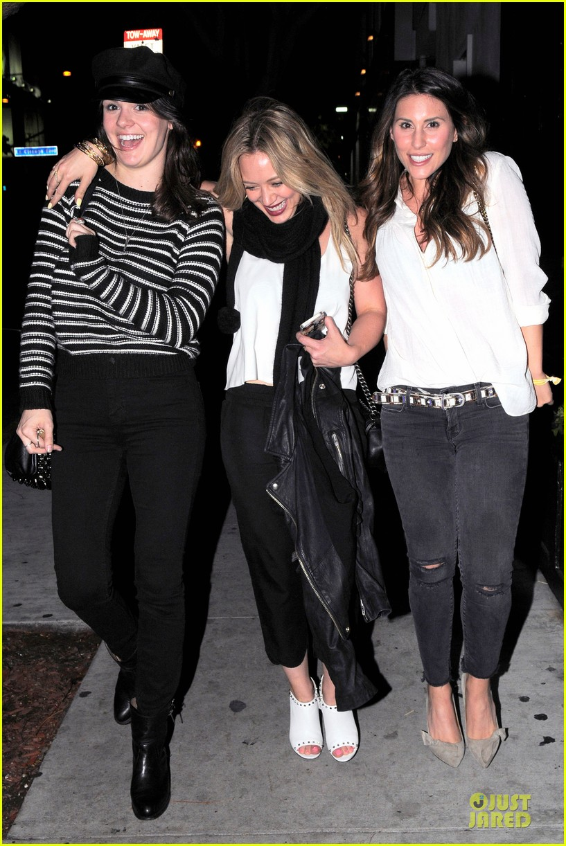 hilary duff sports studded heels for girls night 103068135