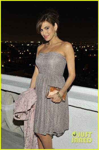 eva mendes new york company spring launch dinner 033075323