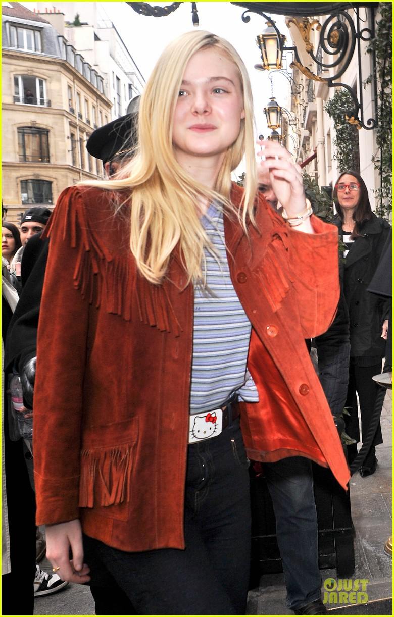 elle fanning makes a fringe fashion statement in france 09