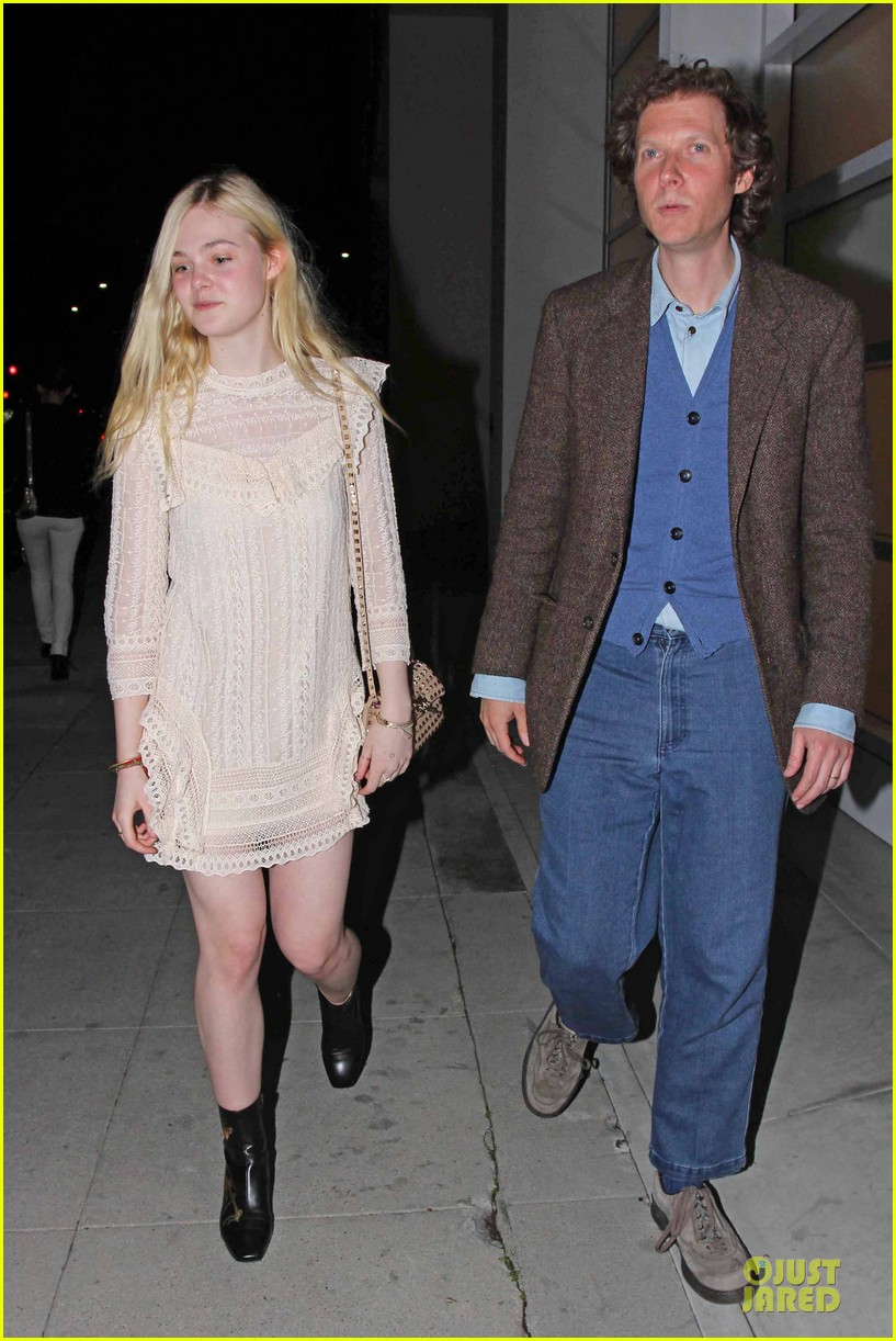 elle fanning teases the cameras in sheer dress at mr chow 09