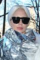 lady gaga shines in silver foil outfit 07
