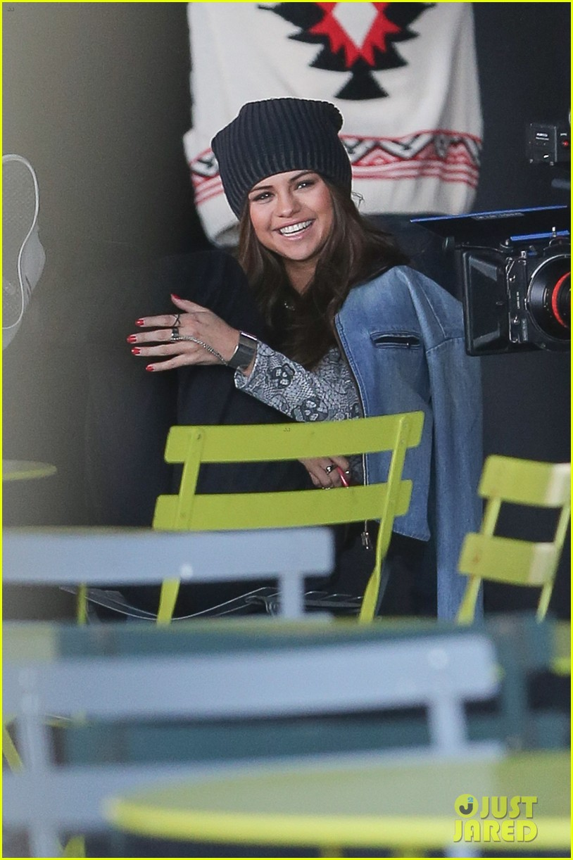 selena gomez films adidas ad in nyc 02