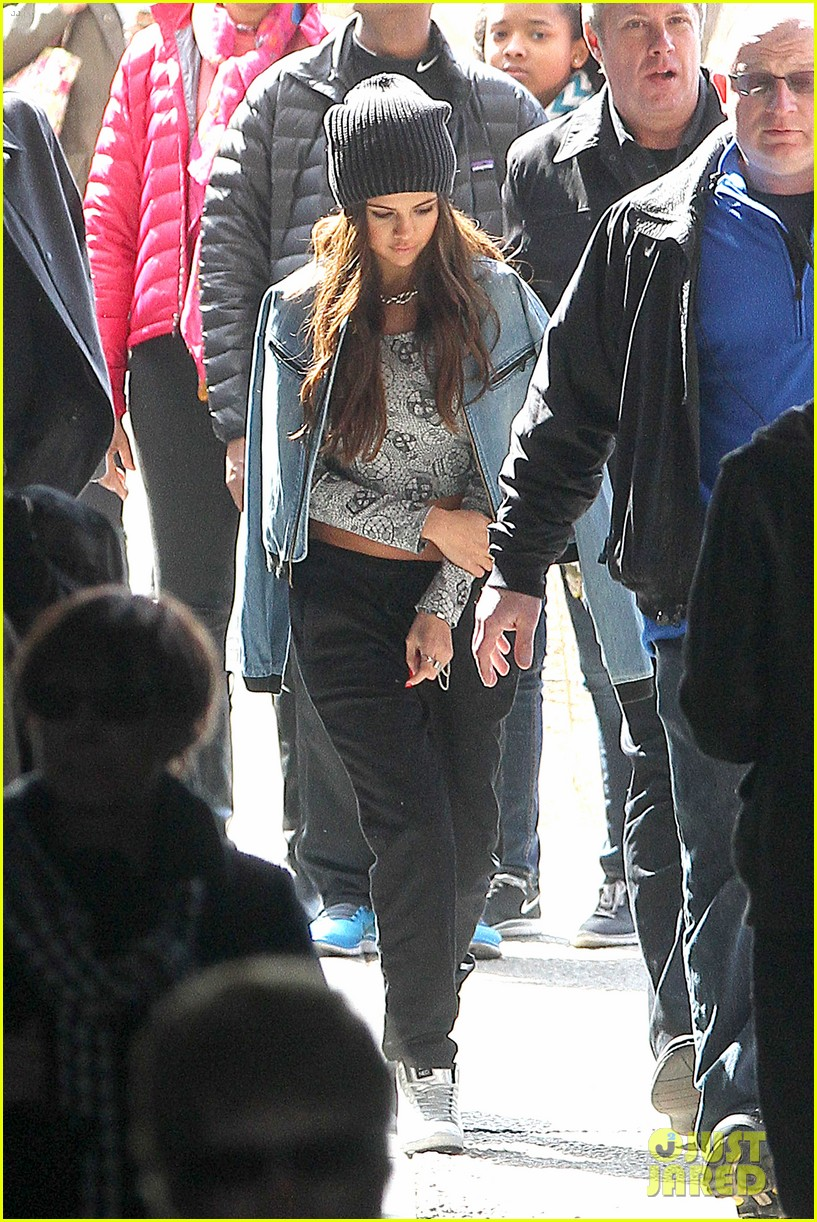 selena gomez films adidas ad in nyc 14