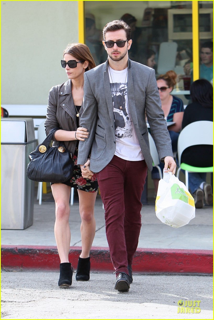 ashley greene paul khoury go in for a kiss after lunch 01
