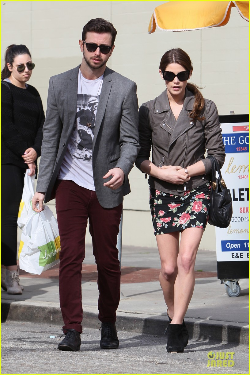 ashley greene paul khoury go in for a kiss after lunch 15