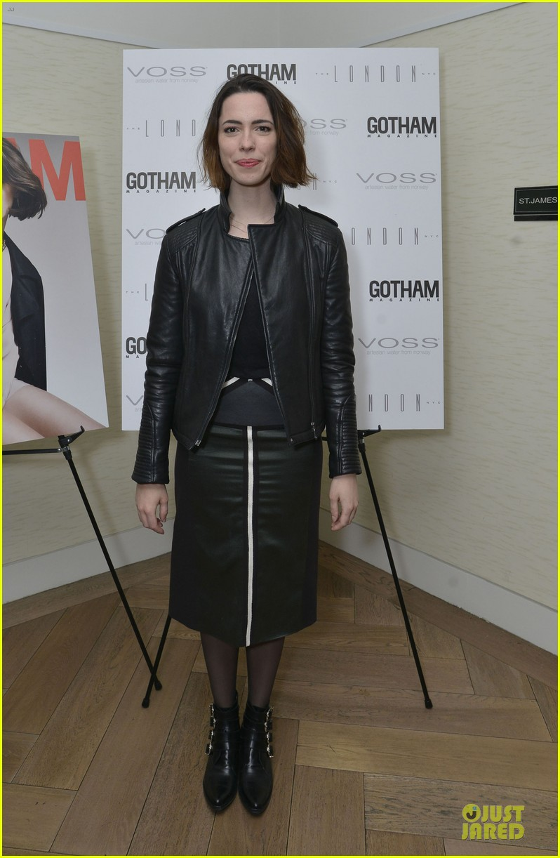 rebecca hall sports leather for gotham magazine cover party 01
