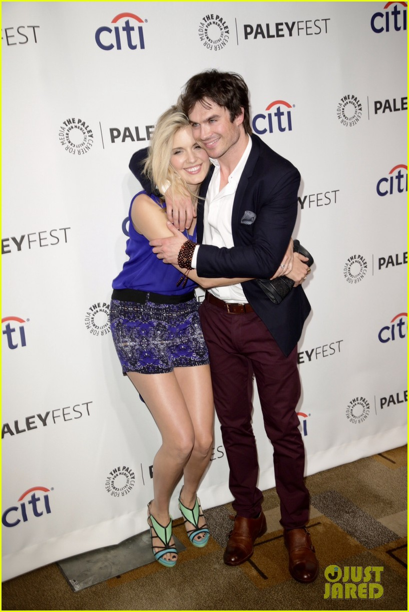 ian somerhalder reunites with maggie grace lost cast at paleyfest 093073144