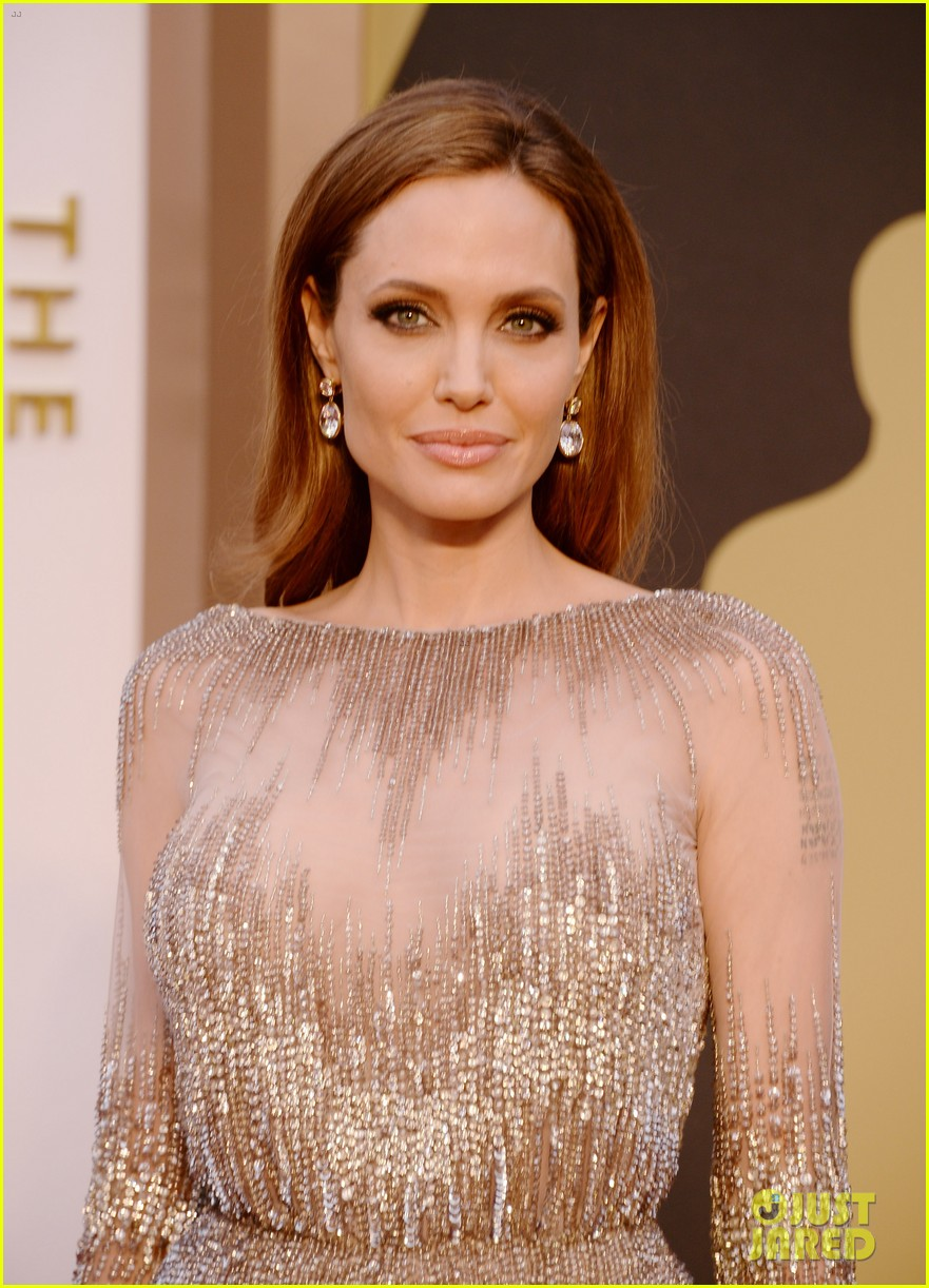 brad pitt angelina jolie oscars 2014 red carpet 093063900