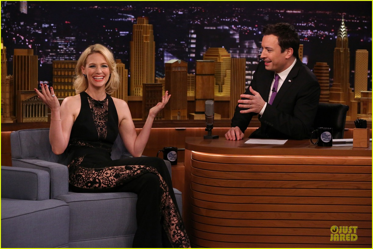 january jones sheer side tonight show 04