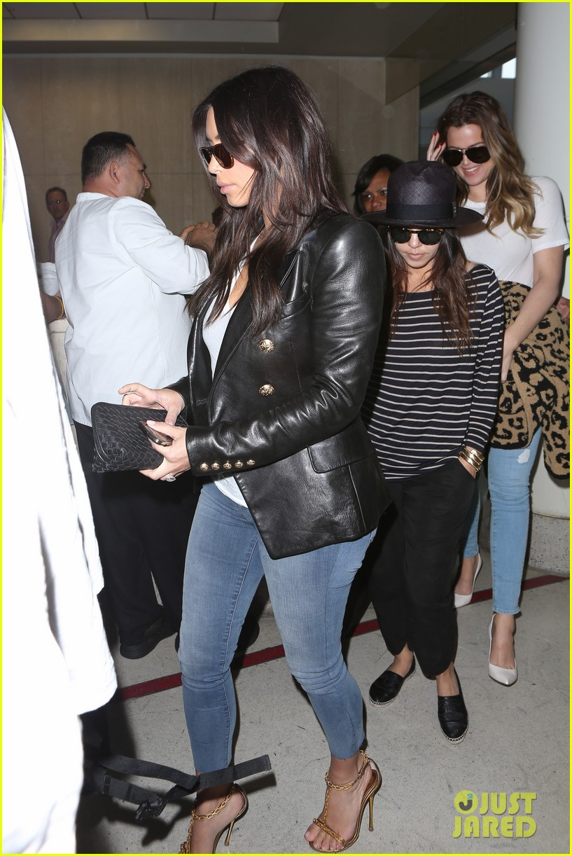kim kourtney khloe kardashian back in los angeles after miami trip 13