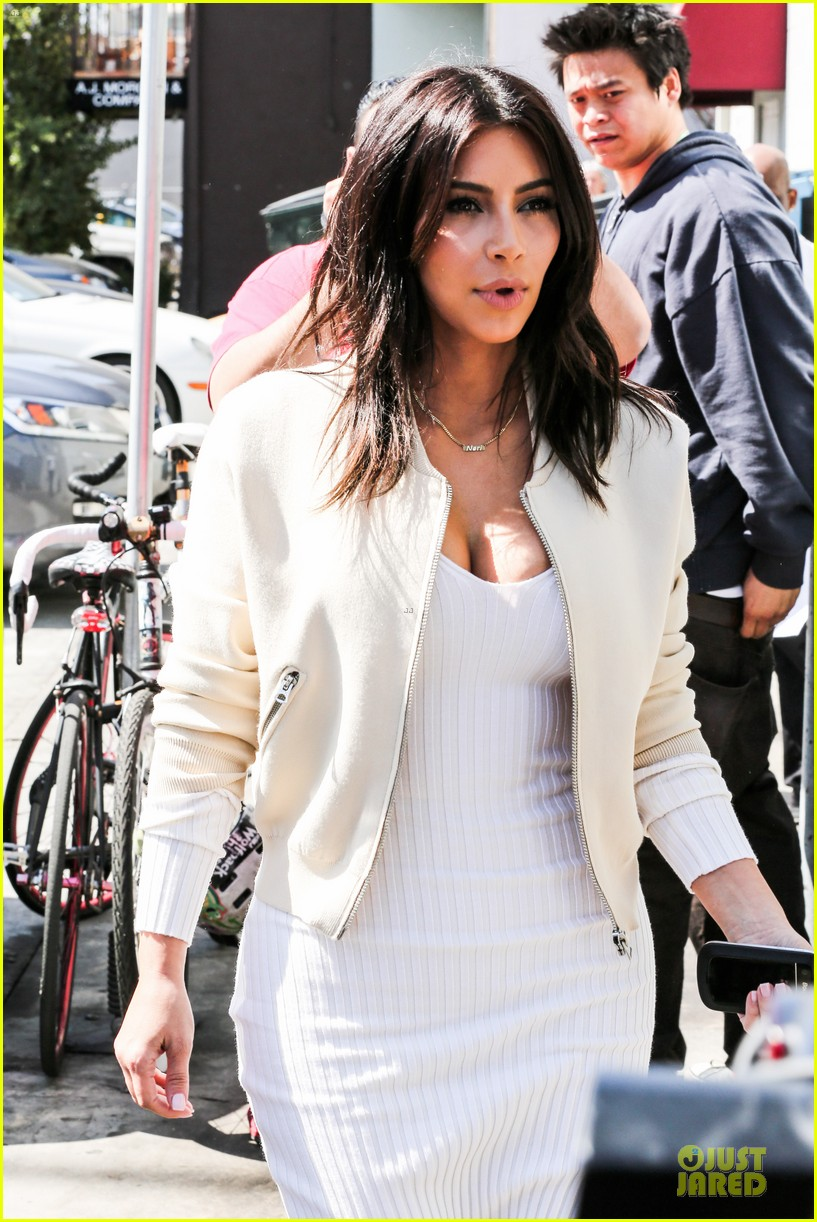 kim kardashian gets ready for summer with white dress 083072584