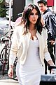 kim kardashian gets ready for summer with white dress 08