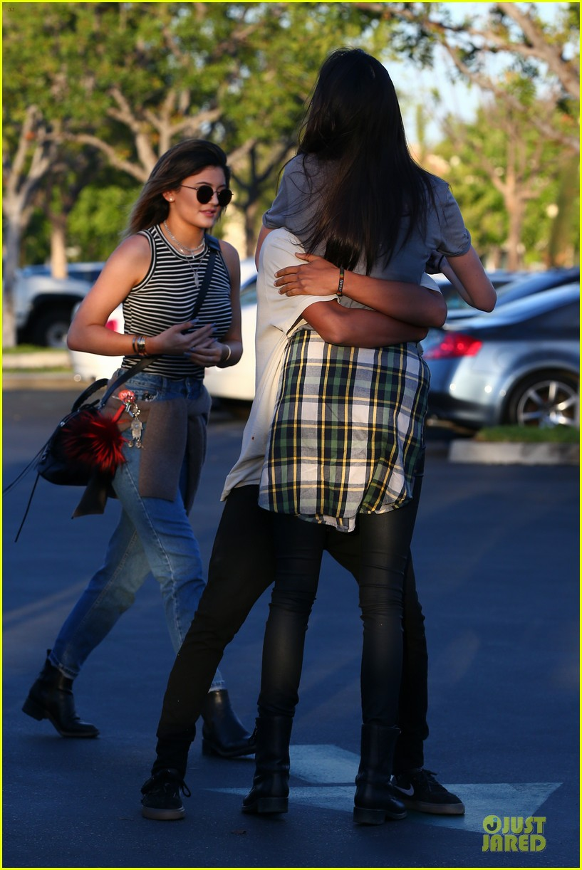 kendall kylie jenner meet up with super excited jaden smith 293072221