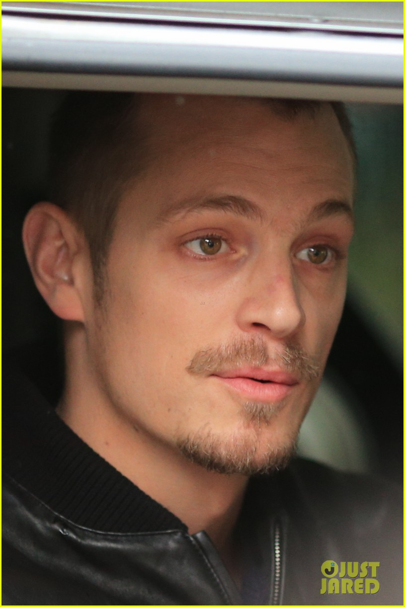 joel kinnaman looks leather jacket cool on the killing set 023067858