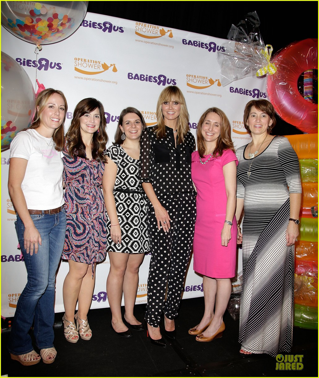 heidi klum is a polkadot sheer host at babies event 05