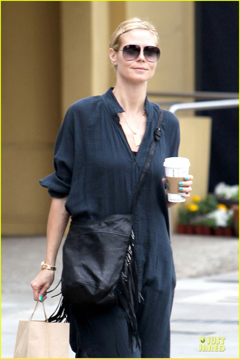 heidi klum shows beauty of being pregnant 133076412