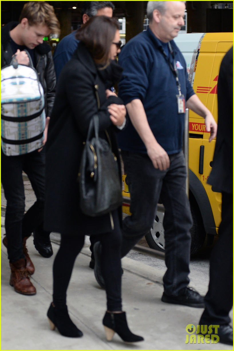 lea michele chord overstreet arrive in new york 20
