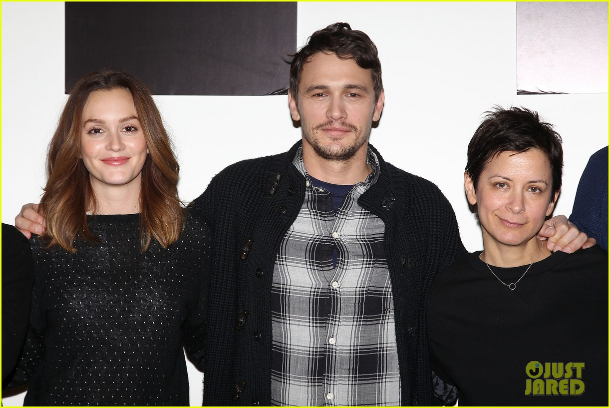 leighton meester james franco of mice men broadway preview 14