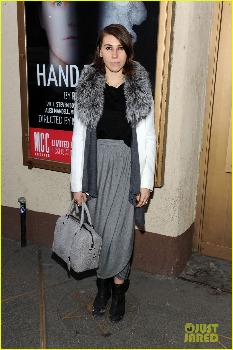 zosia mamet attends hand to god opening night with boyfriend evan jonigkeit 013069774