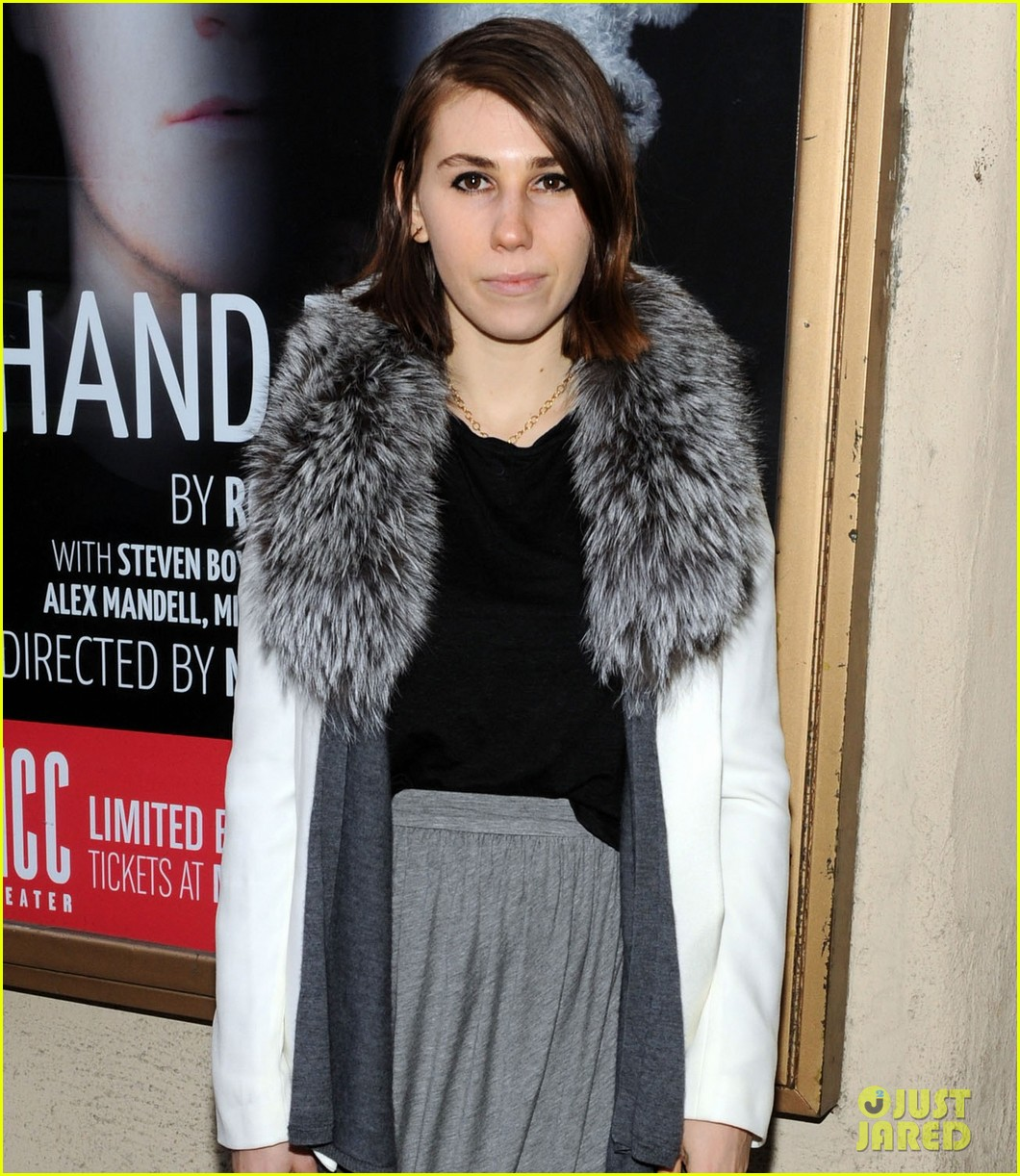 zosia mamet attends hand to god opening night with boyfriend evan jonigkeit 04