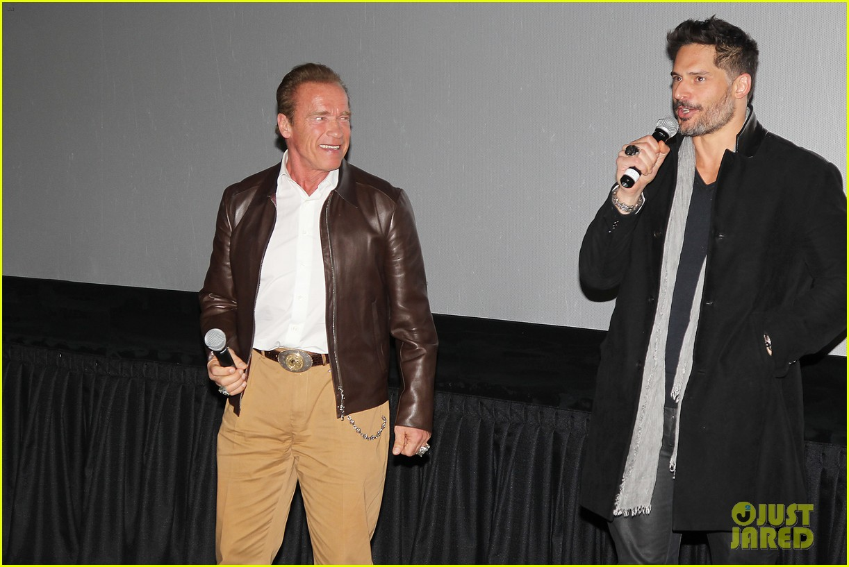 joe manganiello arnold schwarzenegger surprise nyc law enforcement 203077440