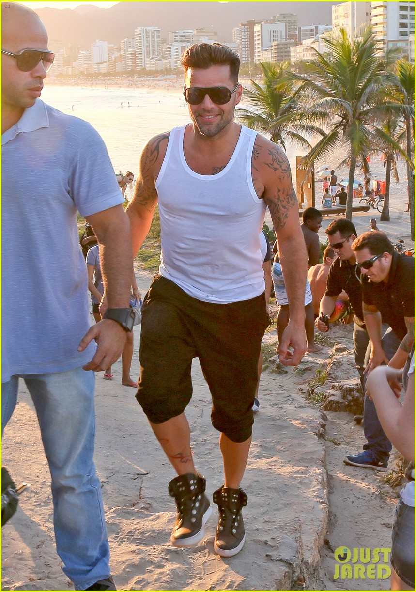 ricky martin films music video for world cup 24