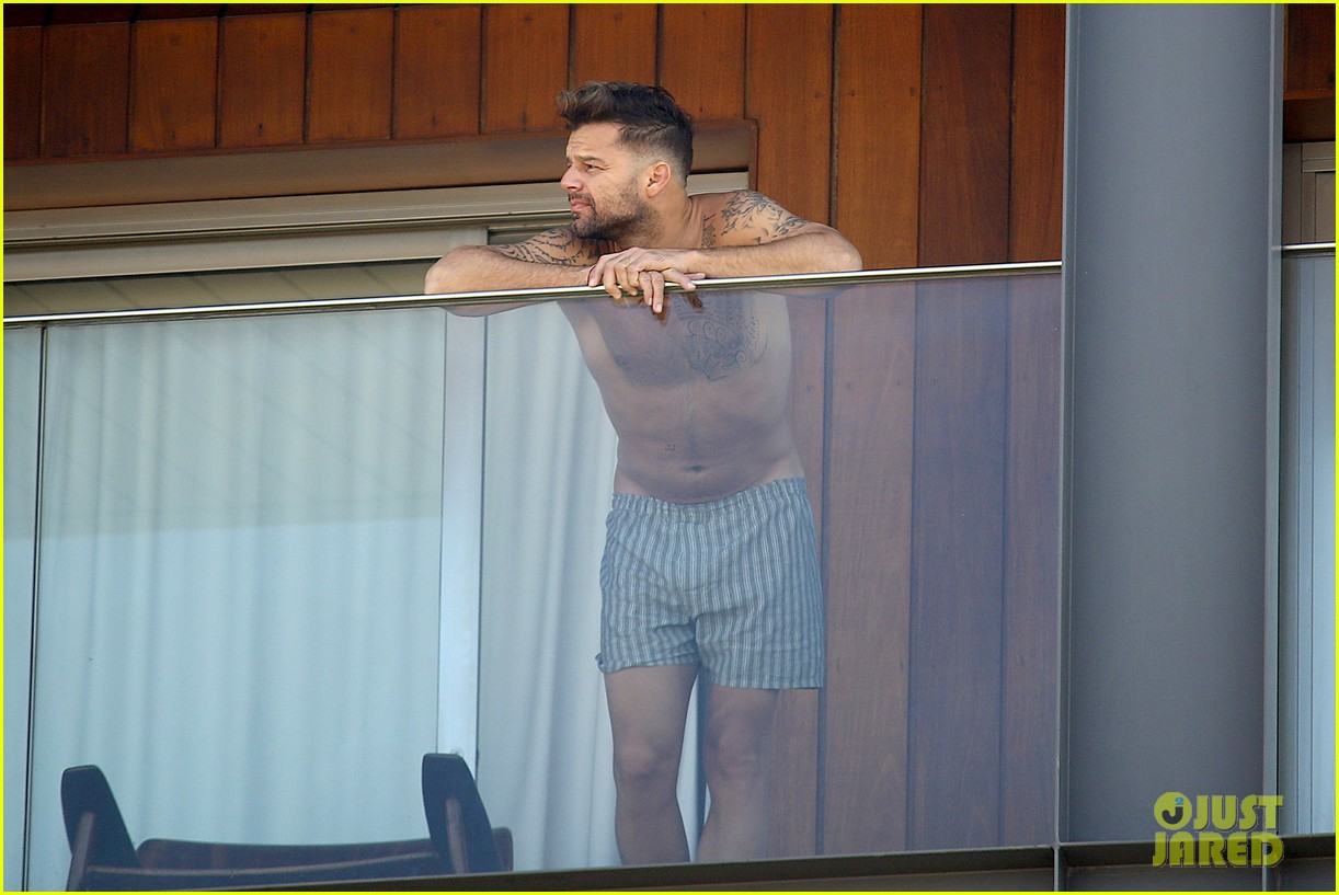 ricky martin goes shirtless in only his boxers in rio 10