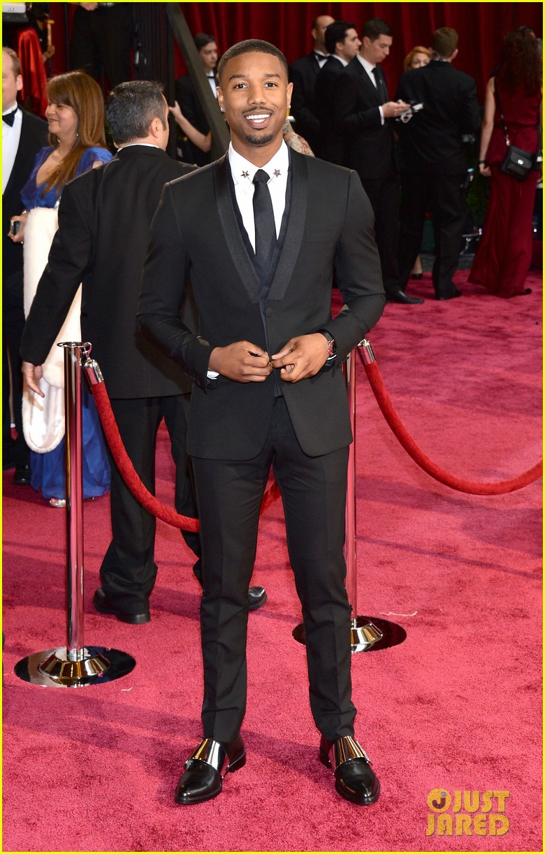michael b jordan oscars 2014 red carpet 023063809