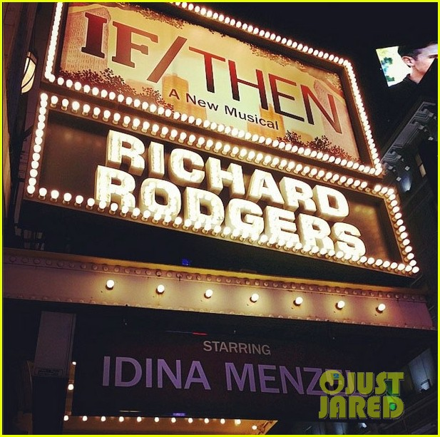idina menzel begins previews of new broadway show if then 04