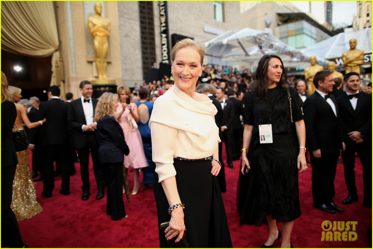 eighteen time nominee meryl streep arrives at oscars 2014 043063890